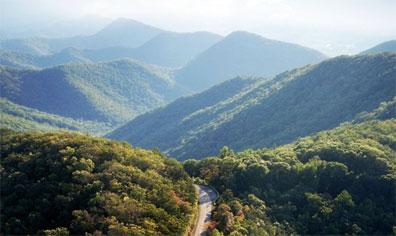 »Atlantikküste von New York bis Florida: Blue Ridge Mountains«