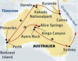 »Höhepunkte Australiens«