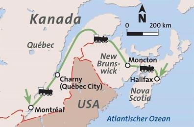 »The Ocean: 2 Tage/1 Nacht  ab Montréal bis Halifax«