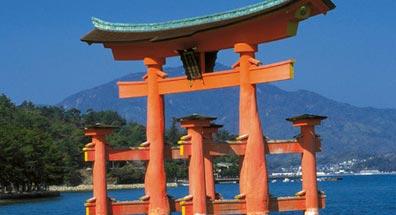 »Best of Japan Reise: Torii des Itsukushima-Schrein, Miyajima«