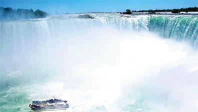 »Bilderbogen des Ostens: Reise zu den Niagara Falls«