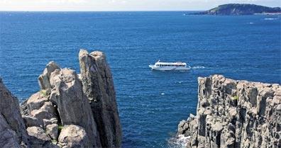 »Faszination Japan: Tojinbo, malerische Küstenlandschaft«