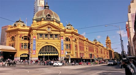 »Australien Reise: Flinders Street Station, Melbourne«