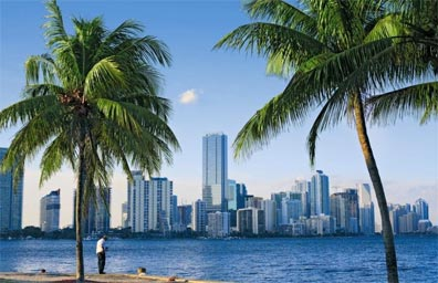 »Florida Impressionen: Downtown Miami Skyline«