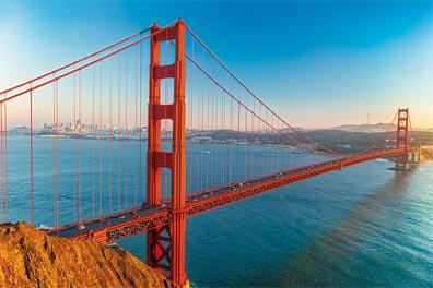 »Die Golden Gate Bridge: eine der berühmtesten Brücken«