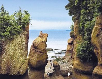 »Hopewell Rocks, Bay of Fundy - günstige Kanada Reise«