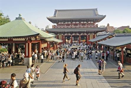 »Impressionen Japans: Asakusa, Kannon-Tempel«