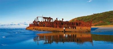 »Maheno Wrack, Fraser Island - Ostküste und Trauminseln«
