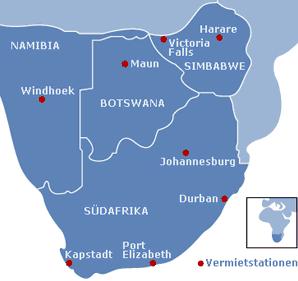 »Mietstationen für Camper im südlichen Afrika«