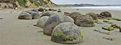 »Reise Höhepunkte Neuseelands: Moeraki Boulders«