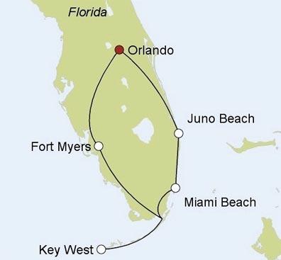 »Begleitete Motorradtouren USA: Florida Keys«
