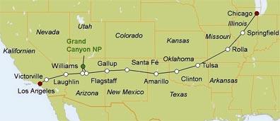 »Road Trip Route 66 Motorradreise USA«