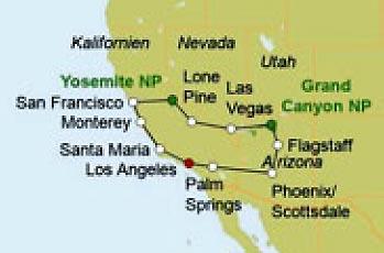 »Road Trip Western Highlights - USA Motorradreise«