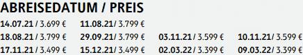 »Termine und Preise«