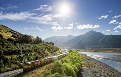 »Neuseeländische Kontraste: Waimakariri River«