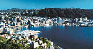 »Neuseeland Mietwagenreise: Wellington Hafen«