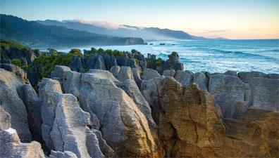 »Neuseeland-Rundreise: Die Pfannkuchenfelsen bei Punakaiki«
