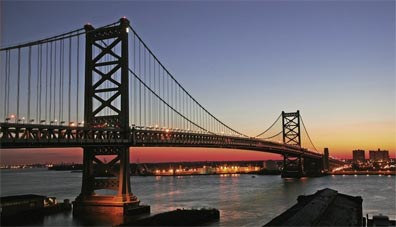 » USA Ostküste: Philadelphia, Benjamin Franklin Bridge «