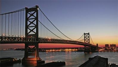 »USA Ostküste: Philadelphia, Benjamin Franklin Bridge«