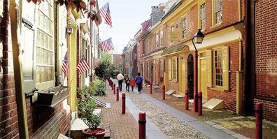 »Highlights der Ostküste: Philadelphia, Elfreth's Alley«
