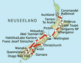 »Neuseeland Radreise am schönsten Ende der Welt«