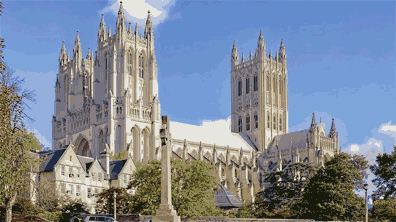 » Washington National Cathedral, sechstgrößte Kathedrale «