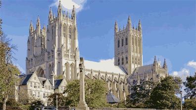 »Washington National Cathedral, sechstgrößte Kathedrale«