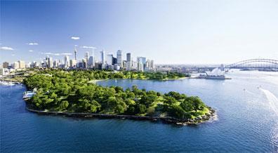 »Wahrzeichen Sydney: Das Opernhaus und die Hafenbrücke«
