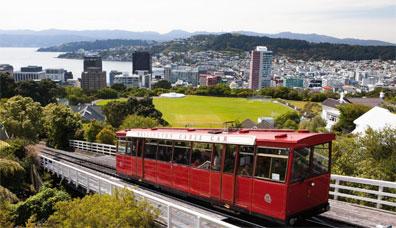 »Kabelbahn hinauf zum Observatorium, Wellington«