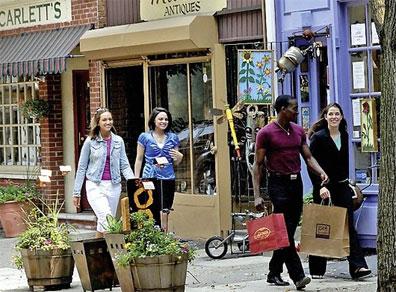 »Sehenswürdigkeiten des Ostens: Philadelphia, Antique Row«