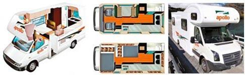 »Apollo Euro Camper: Empfehlung für 2 Erwachsene und 1 Kind«