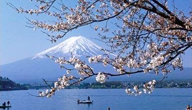 »Ashi-See mit Blick auf den Fuji-san - Studienreise Japan«