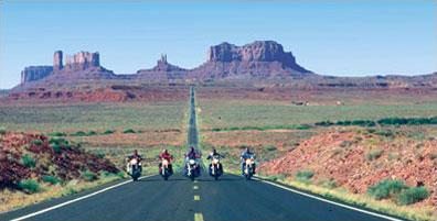 »Klassischer Westen: Harley Motorradreise USA«