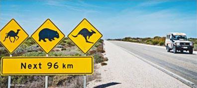 »Fahren Sie auf den endlosen Straßen Australiens...«