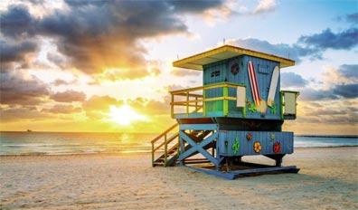 »Miami Beach - Florida Impressionen per Mietwagen«