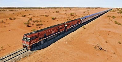 »Rreise mit dem Ghan - eine Eisenbahnfahrt durch Australien«