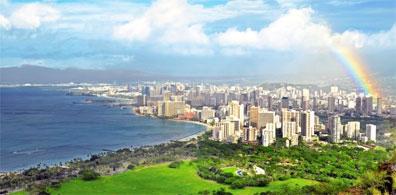 »Waikiki Beach - Mietwagenreise Hawaii für Abenteurer«