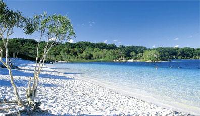 »Ostküste zum Verweilen: Lake McKenzie, Fraser Island«