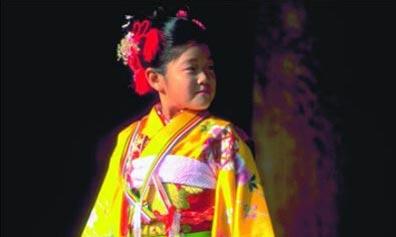 »Kind in japanischer Tracht - Rundreise Japan«