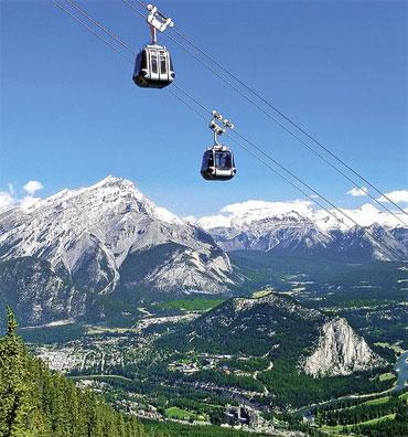 »Gondel Sulphur Mountain - Rundreise Westkanada«
