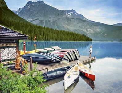 »Mächtige Rockies & Charmante Küste: Emerald Lake Lodge«