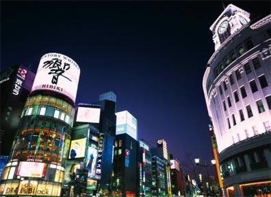 »Reise nach Japan: Tokio bei Nacht«