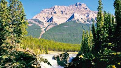 »Athabasca Falls, Jasper Nationalpark - Westkanada Reise«
