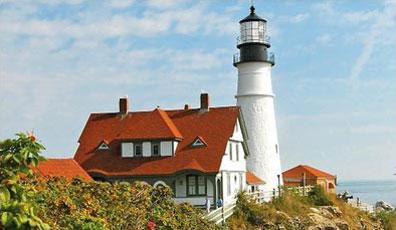 »Leuchtturm Portland - Indian Summer in Neuengland«