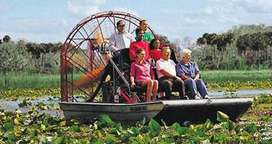 »Propellerboot im Everglades Safari Park - Florida Reise«