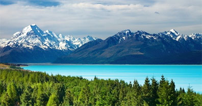 »Blick auf den Mount Cook - Reisen nach Neuseeland«