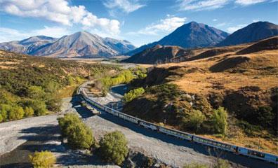 »Neuseeland Rundreise komfortabel mit der Bahn«