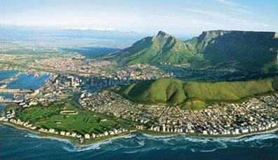 »Rundreise Südafrika - Vogelperspektive auf Kapstadt«