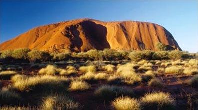 »Der Ayers Rock, das Wahrzeichen Australiens«