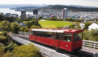 »Kabelbahn hinauf zum Observatorium, Wellington (Neuseeland)«